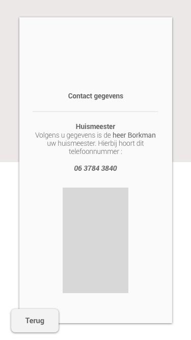 Contact gegevens woonstad - huismeester